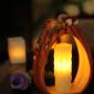 供应ceramic pumpkin candle holder